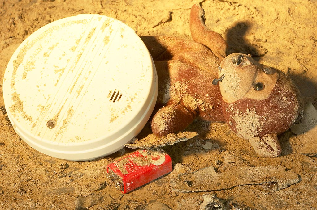 Image of Burned Teddy Bear after a Home Fire