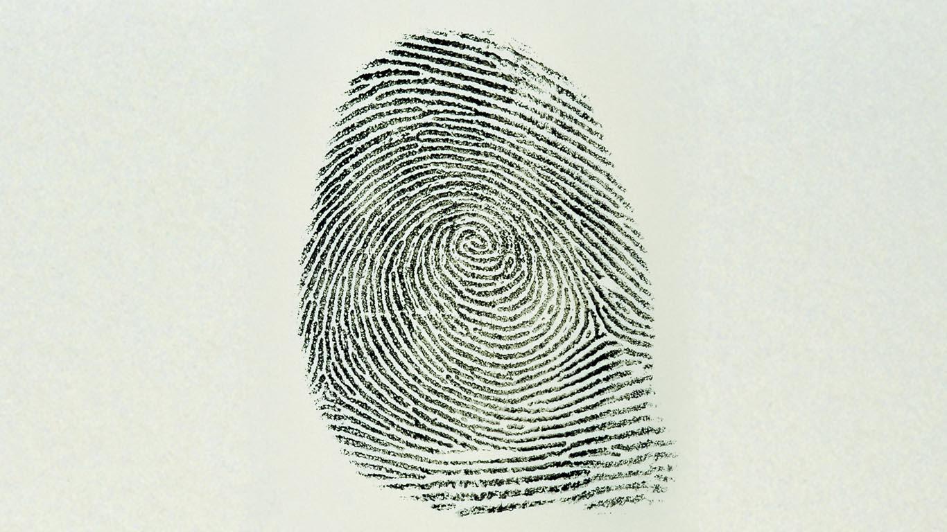 Black and White Forensics Finger Print Image